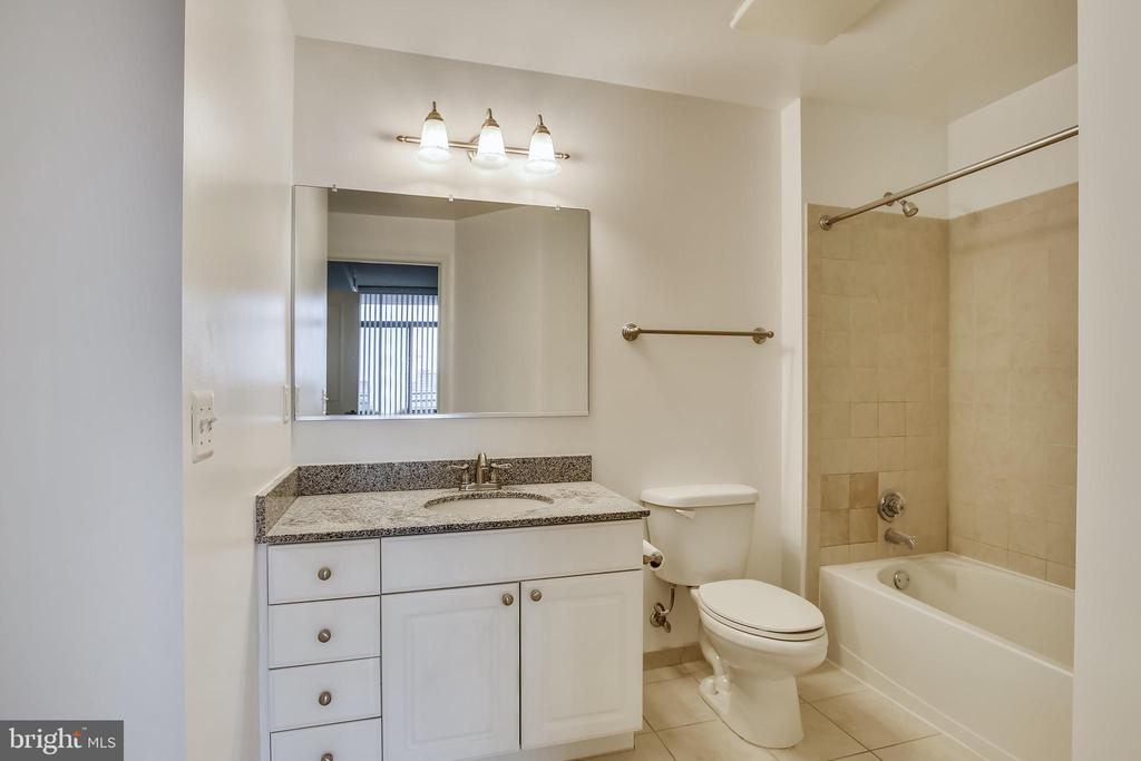 Updated Bath accessed from Hall & Primary Bedroom - 3650 S GLEBE RD #464, ARLINGTON