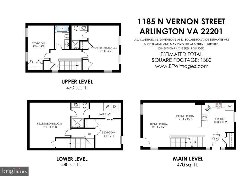 Floorplan - 1185 N VERNON ST, ARLINGTON