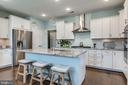 An entertainer's dream kitchen with great island - 44521 FIERY SKIPPER TER, ASHBURN