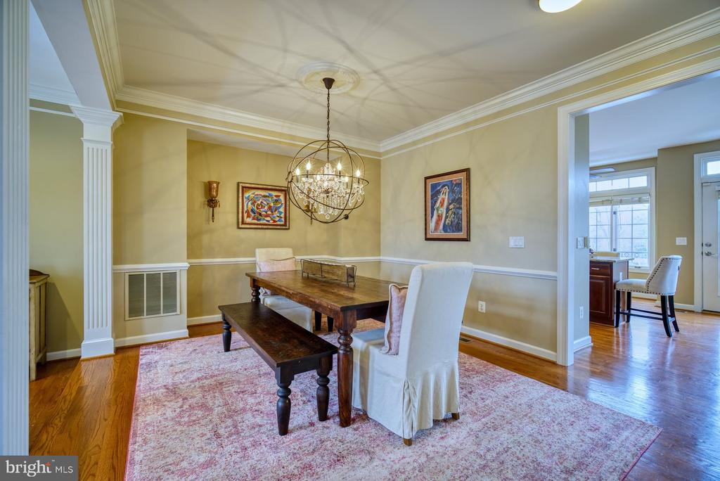 Lovely Dining Room with Easy Access to Kitchen - 18541 BEAR CREEK TER, LEESBURG