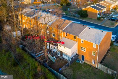 Aerial view of townhouse - 110 OAK DR #110, STAFFORD