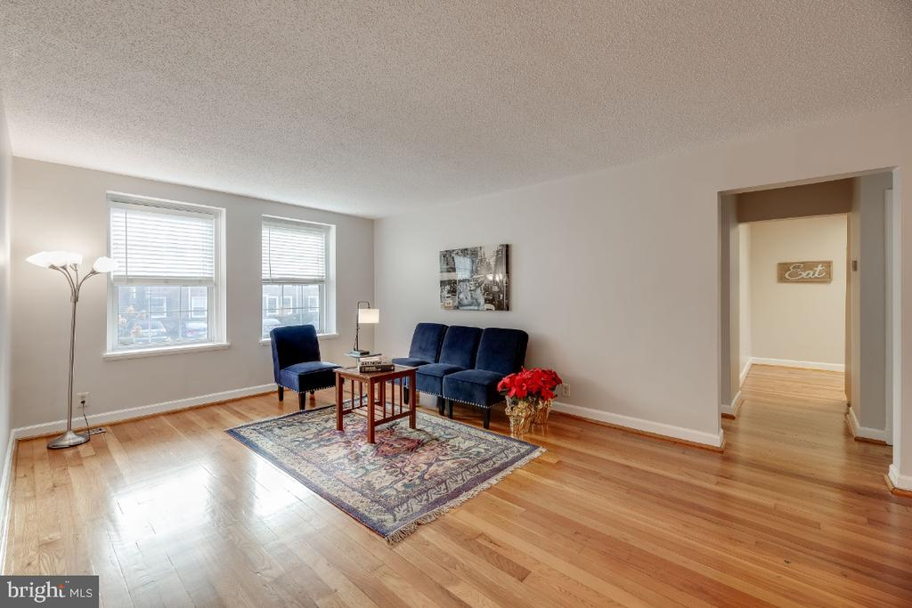 Huge living room with hardwoods - 3035 S BUCHANAN ST #A1, ARLINGTON