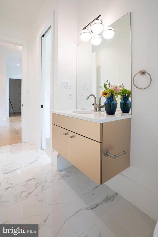 Main level - hanging vanity, gold finish - 110 TAPAWINGO RD SW, VIENNA