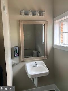 Main level half bathroom - 611 CAROLINE ST, FREDERICKSBURG