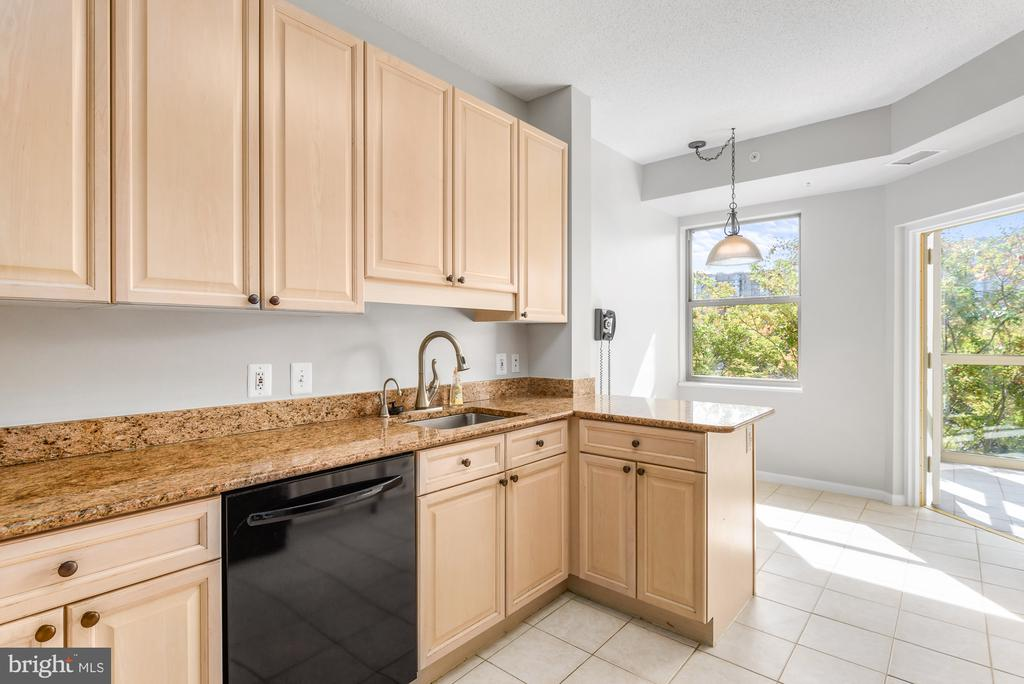 Large, eat-in kitchen - 19360 MAGNOLIA GROVE SQ #212, LEESBURG