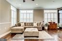 Living room with gleaming hardwood floors - 4349 4TH ST N, ARLINGTON