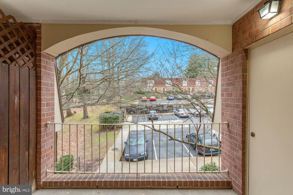 Balcony View - 8110-E COLONY POINT RD #218, SPRINGFIELD
