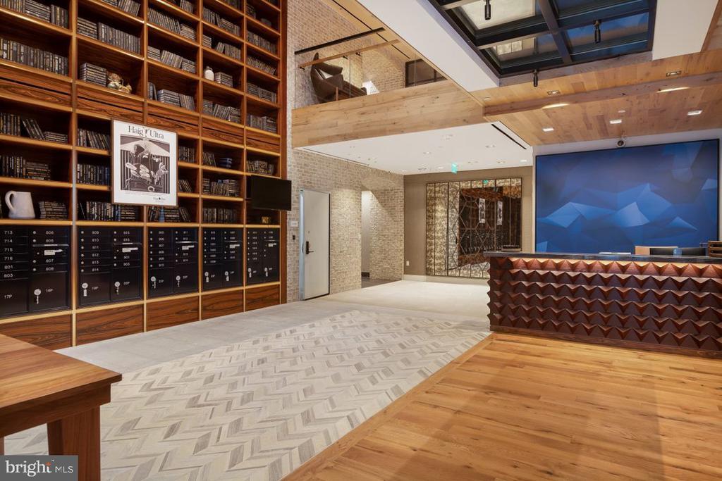 Lobby, concierge and library - 70 N ST SE #N1013, WASHINGTON