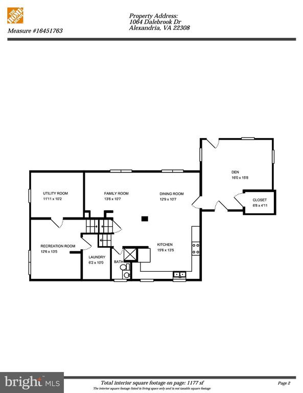 Lower Two Levels - 1064 DALEBROOK DR, ALEXANDRIA