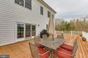 Large trex deck off of the kitchen - 41205 CANONGATE DR, LEESBURG