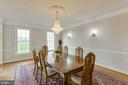 Alt view of dining room with upgraded molding - 41205 CANONGATE DR, LEESBURG