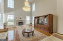Family room with stunning views - 41205 CANONGATE DR, LEESBURG