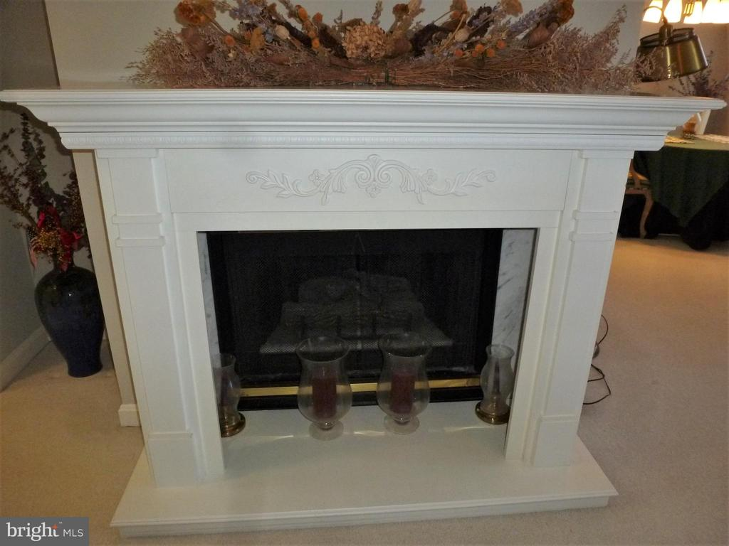 Gas Fireplace with custom mantel - 20577 SNOWSHOE SQ #301, ASHBURN