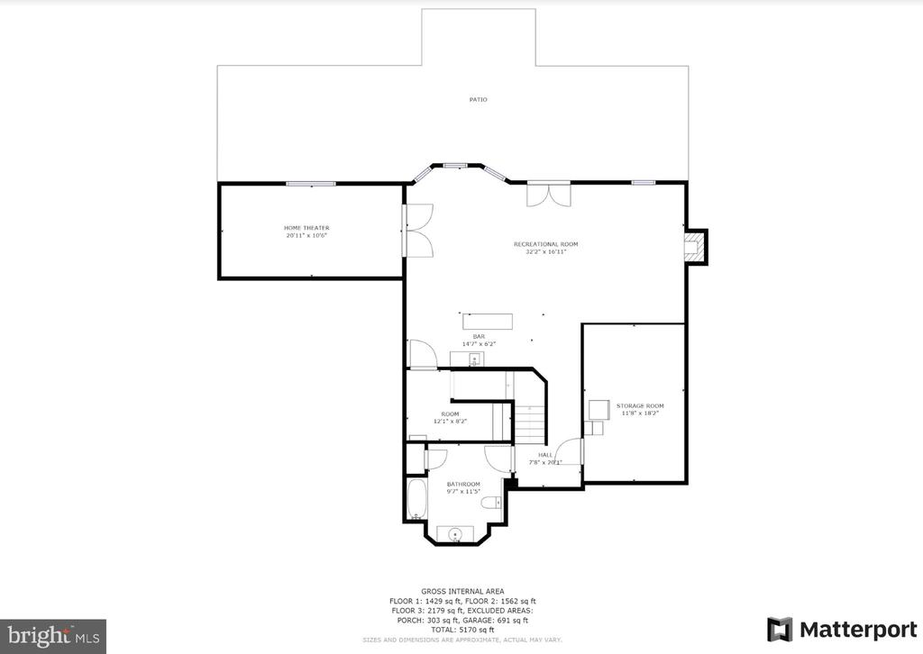 Lower level floor plan - 42070 SADDLEBROOK PL, LEESBURG