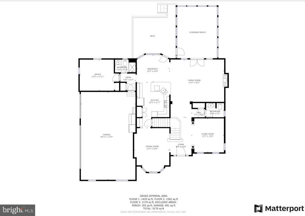 Upper level floor plan - 42070 SADDLEBROOK PL, LEESBURG