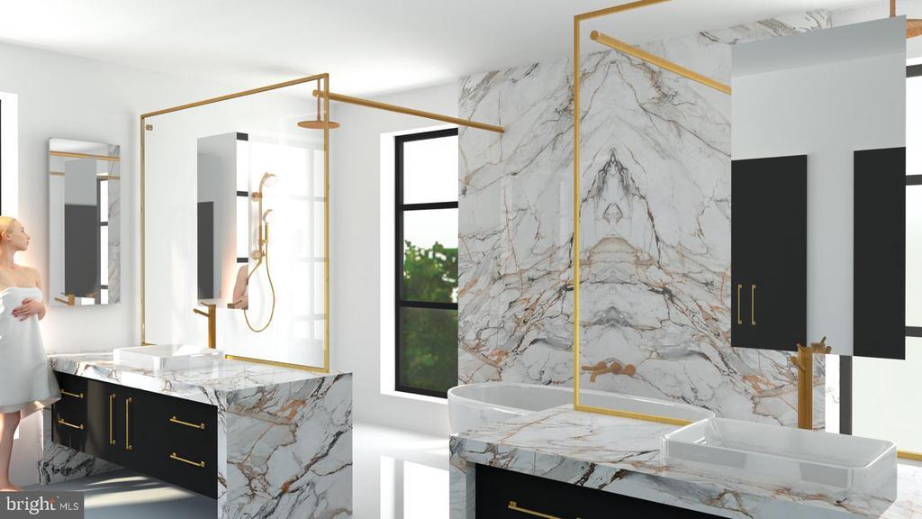 Conceptual Main Bathroom Design - 2776 N QUEBEC ST, ARLINGTON