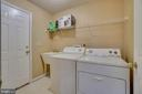 Laundry room with door to the garage - 6109 SUNNY MEADOWS DR, FREDERICKSBURG