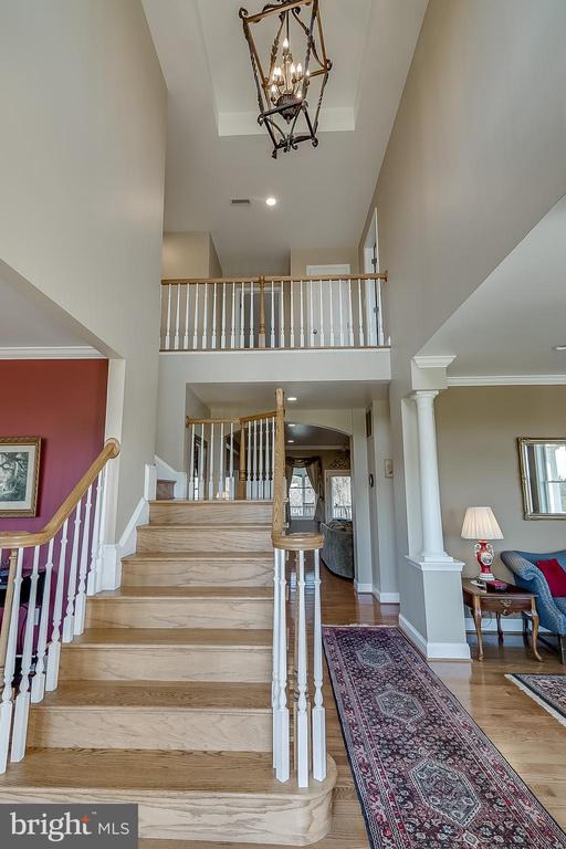 Two story entrance - 42070 SADDLEBROOK PL, LEESBURG