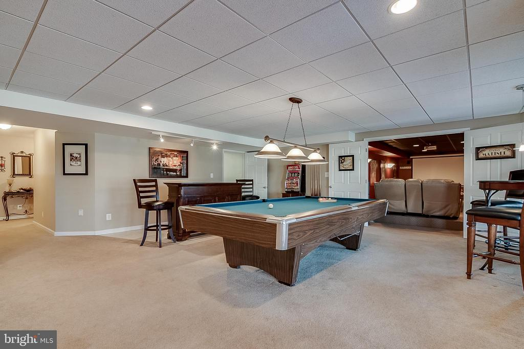 Large lower level rec room - 42070 SADDLEBROOK PL, LEESBURG