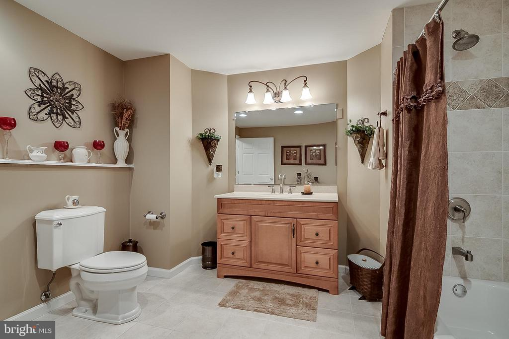 Lower level full bath - 42070 SADDLEBROOK PL, LEESBURG