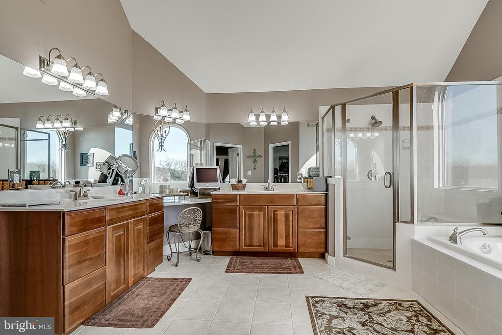Dual vanities and separate shower - 42070 SADDLEBROOK PL, LEESBURG
