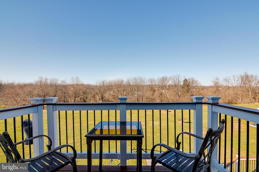 Balcony off primary bedroom - 42070 SADDLEBROOK PL, LEESBURG