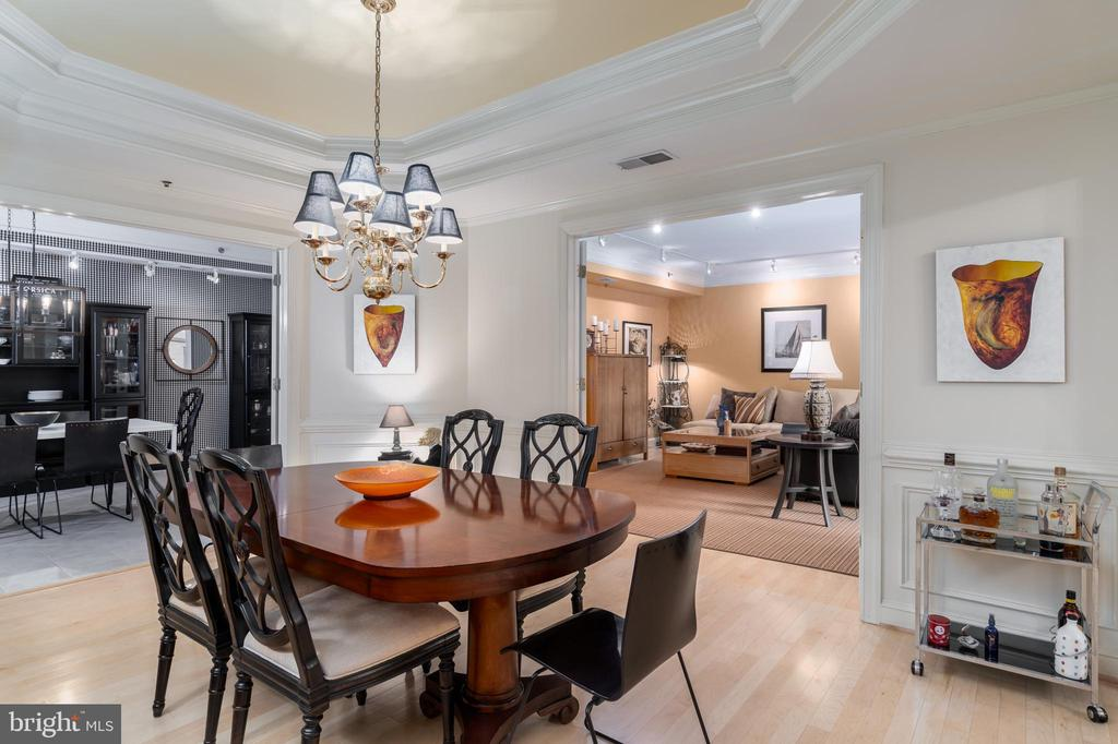 Tray Ceiling, Wainscoting, 10 Arm Chandelier - 1555 N COLONIAL TER #100, ARLINGTON