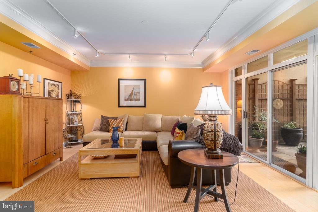 Family/Media Room Wing Has Direct Terrace Access - 1555 N COLONIAL TER #100, ARLINGTON