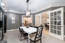 Country Kit/Din Space with Farmhouse Chandelier - 1555 N COLONIAL TER #100, ARLINGTON