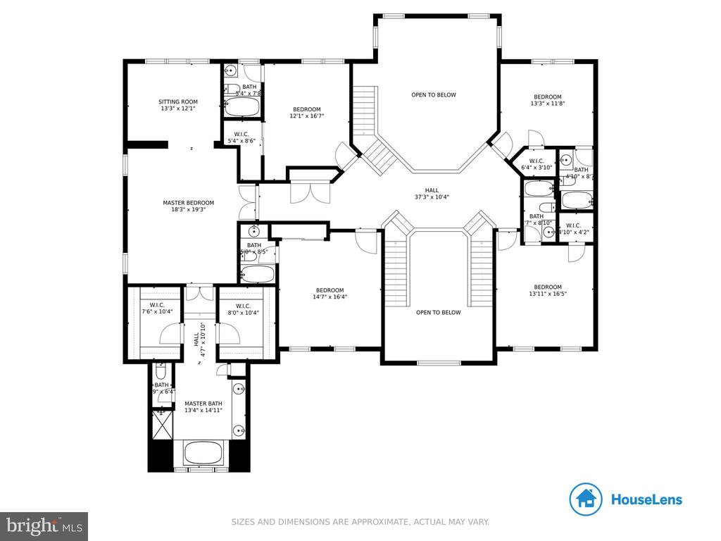 Floor plan- upper level - 41205 CANONGATE DR, LEESBURG
