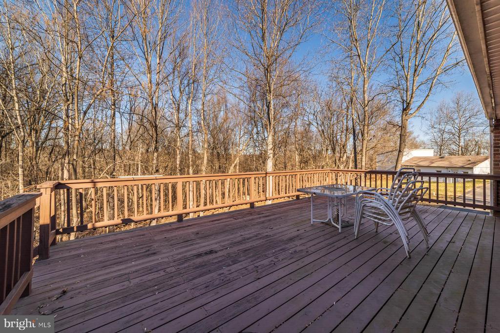 Deck has beautiful view of the wooded lot - 38365 GOOSE CREEK LN, LEESBURG