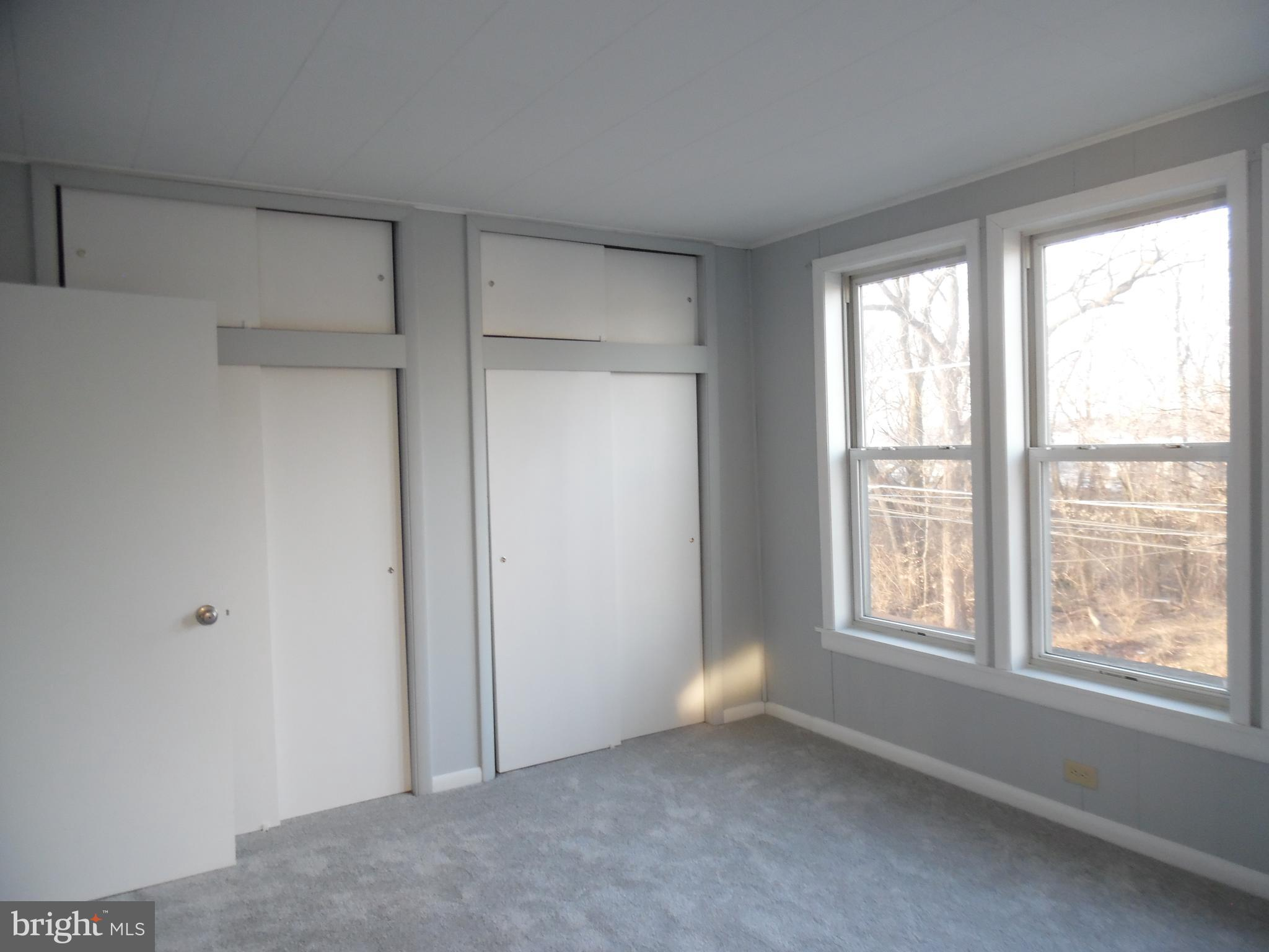 Double closets in Main Bedroom