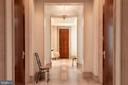 Foyer with Limestone Floors & Moldings - 3150 SOUTH ST NW #PH2C & 1M, WASHINGTON