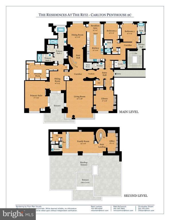 Penthouse 2C Floor Plan - 3150 SOUTH ST NW #PH2C & 1M, WASHINGTON