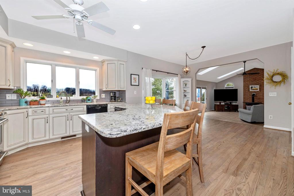 stunning view from kitchen sink - 13001 PENN SHOP RD, MOUNT AIRY