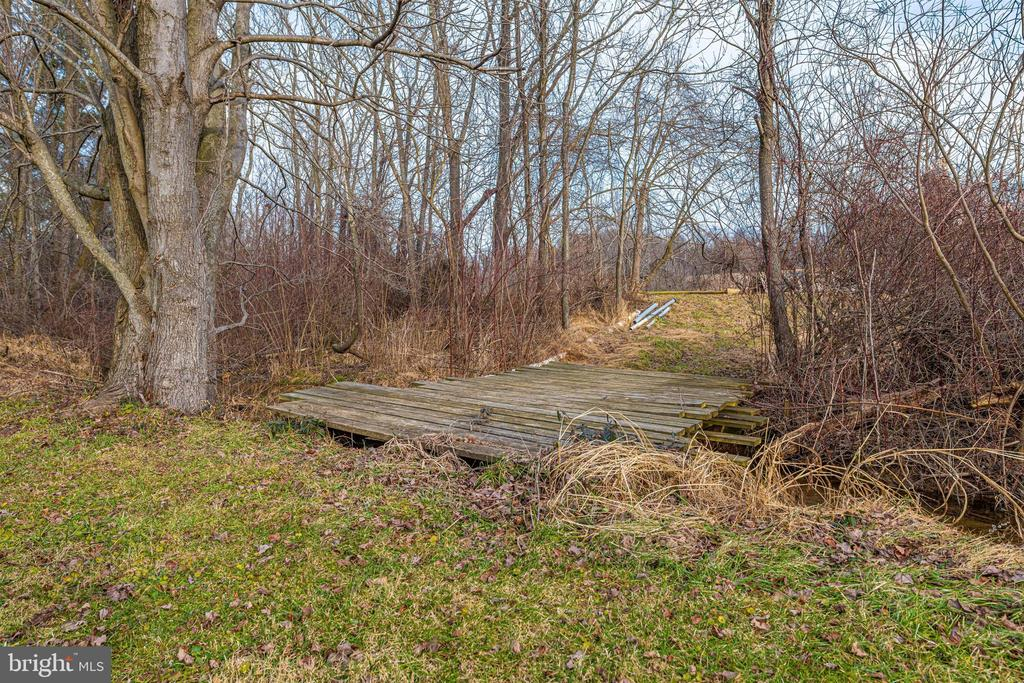 bridge to your own pond - 13001 PENN SHOP RD, MOUNT AIRY