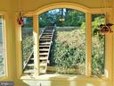 BUILT-IN HILLSIDE STAIRS LEAD TO BIRD FEEDERS - 333 CARDINAL GLEN CIR, STERLING