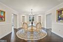 Formal dining room with refinished wood floors - 38853 MOUNT GILEAD RD, LEESBURG