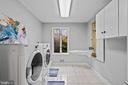 Main floor laundry with pet wash station - 38853 MOUNT GILEAD RD, LEESBURG
