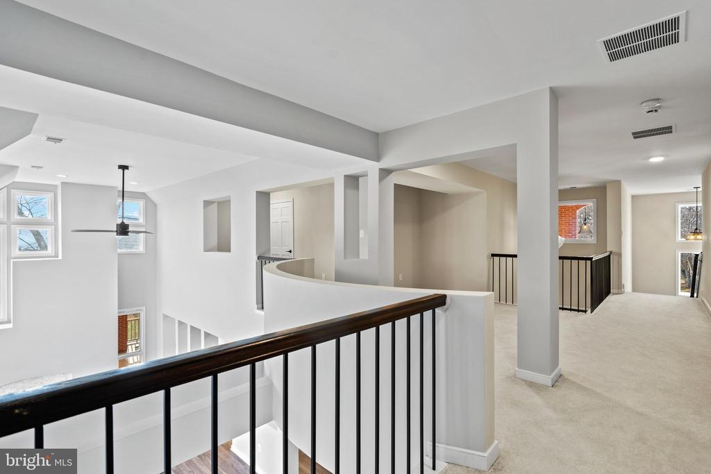 Landing on upper level with new iron railings - 38853 MOUNT GILEAD RD, LEESBURG