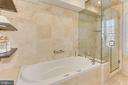 Primary Bath with Jetted Spa and Rain Shower - 2816 O ST NW, WASHINGTON
