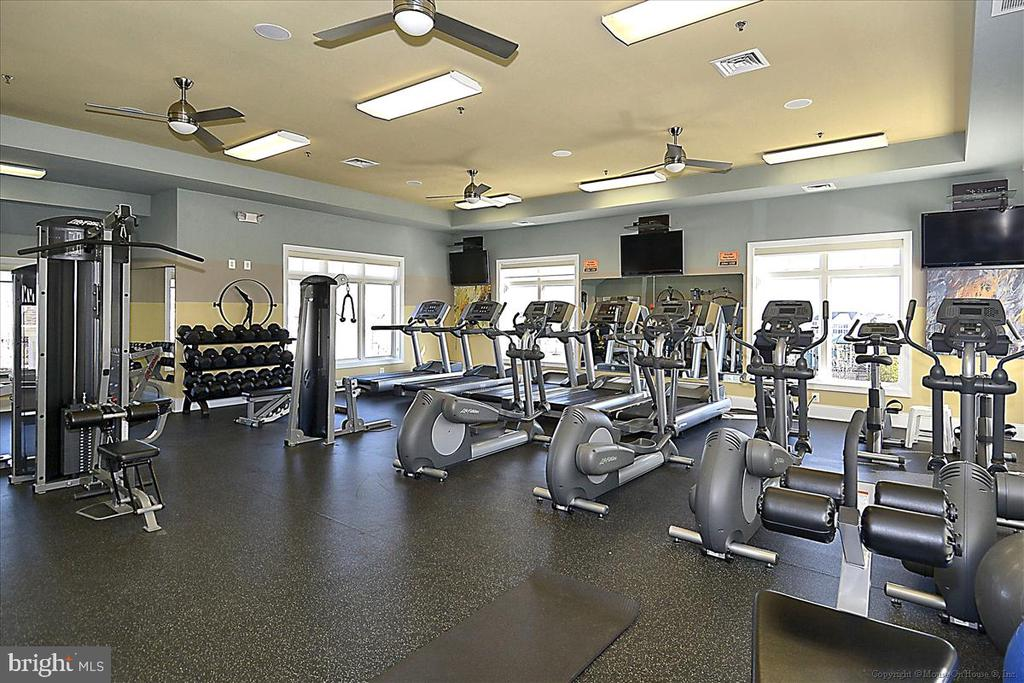 The gym in the clubhouse - 43137 WEALDSTONE TER, ASHBURN