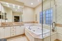 Master ensuite: with tile and shower updates - 20449 SWAN CREEK CT, POTOMAC FALLS
