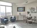 Sun-drenched Living/Dining Room, freshly painted - 3650 S GLEBE RD #464, ARLINGTON