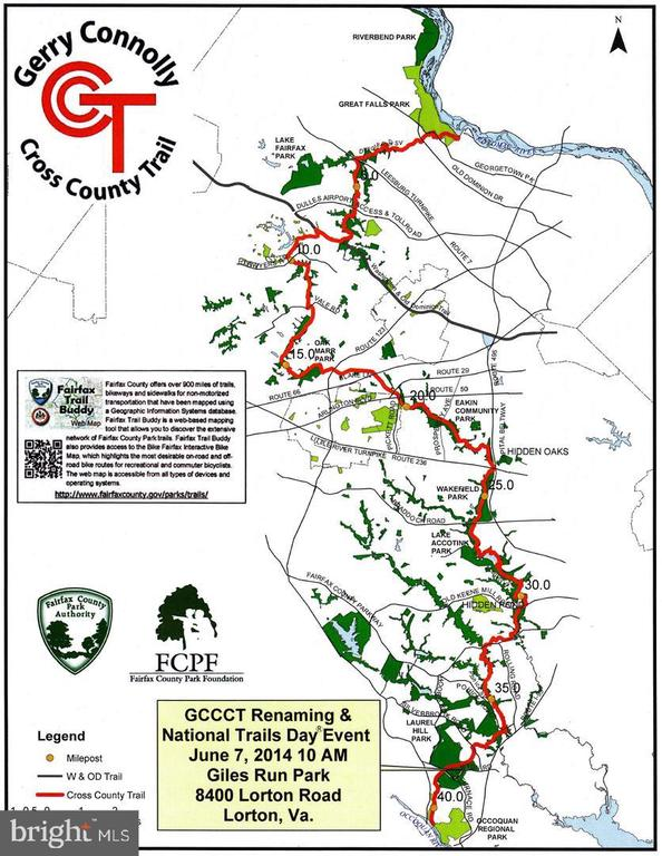 Access to miles of biking  and hiking trials - 9401 OX RD, LORTON
