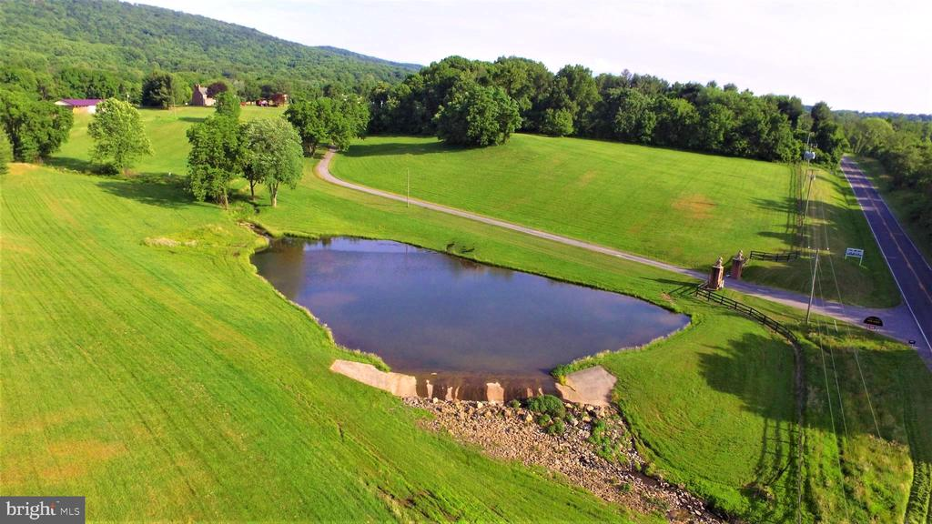 Front pond with engineered spillway - 12138 HARPERS FERRY RD, PURCELLVILLE