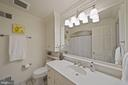 A white guest hall bath offers great lighting - 639 S SAINT ASAPH ST, ALEXANDRIA