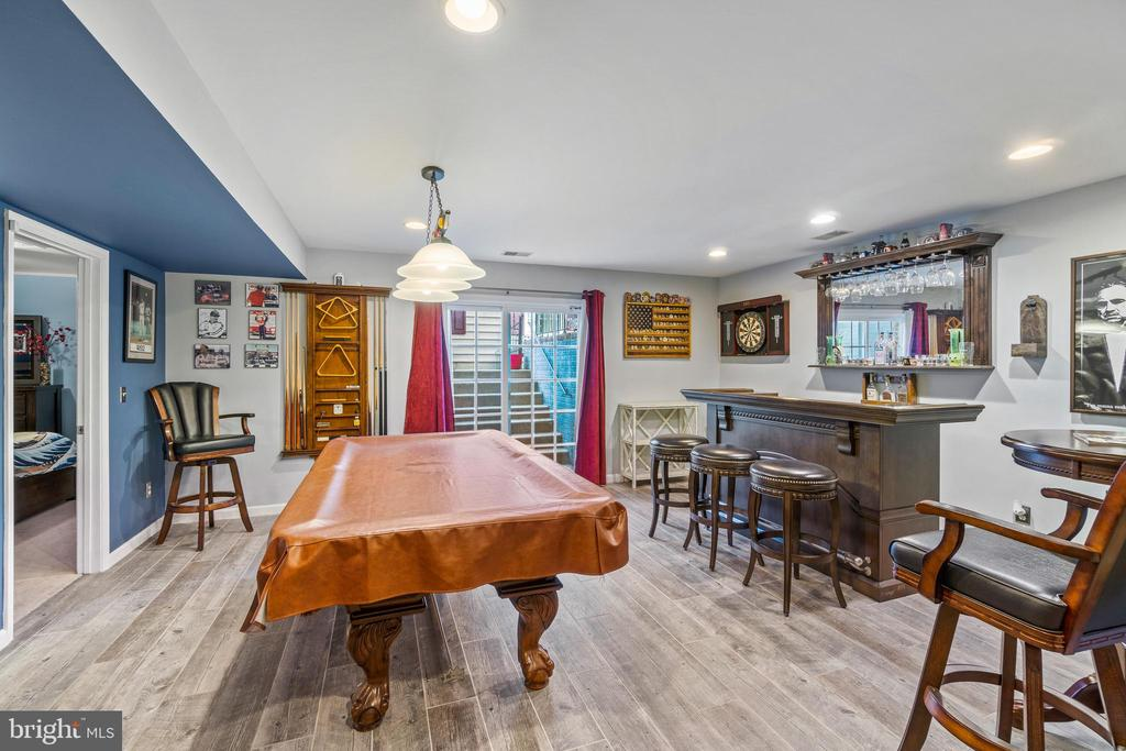 Rec Room with Bar and Billiard space - 11924 RICKETTS BATTERY DR, BRISTOW