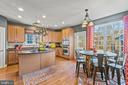 Kitchen with Island and efficient arrangement - 11924 RICKETTS BATTERY DR, BRISTOW