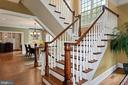 wide staircase leads to BR level & Lower levels - 1901 ALLANWOOD PL, SILVER SPRING